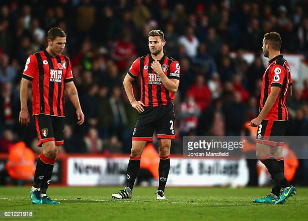 Simon Francis of AFC Bournemouth looks dejected after Sunderland score during the Premier League match between AFC Bournemouth and Sunderland at...