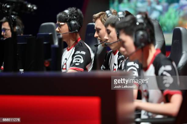 Simon Fraser University competes against the University of Toronto during the opening round at the League of Legends College Championship on May 25...