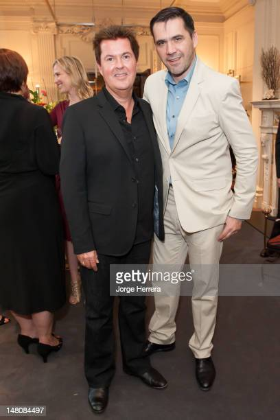 Simon Fuller and Roland Mouret attend summer cocktail party hosted by Roland Mouret and Simon Fuller at the Roland Mouret Carlos Place Flagship Store...
