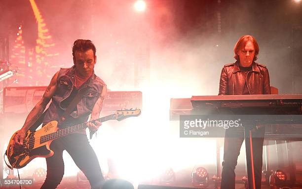 Simon Gallup and Roger O'Donnell of The Cure perform at Shoreline Amphitheatre on May 26 2016 in Mountain View California
