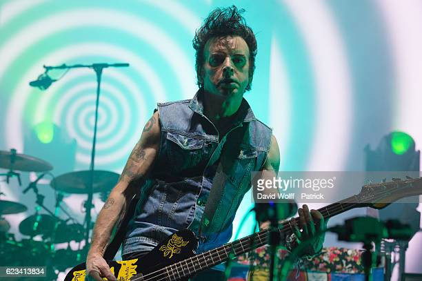 Simon Gallup from The Cure performs at AccorHotels Arena on November 15 2016 in Paris France