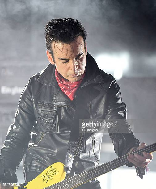 Simon Gallup of The Cure performs at Shoreline Amphitheatre on May 26 2016 in Mountain View California