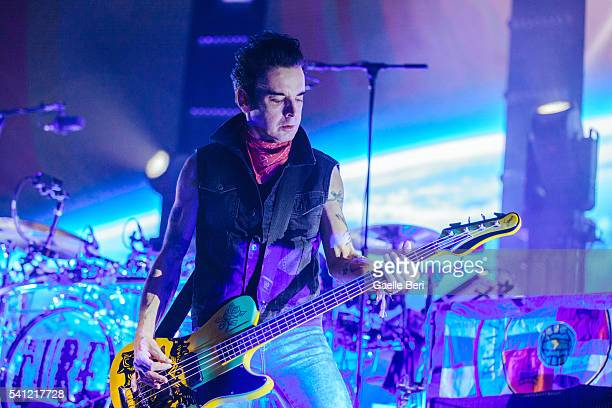 Simon Gallup of The Cure performs live at Centre Bell on June 14 2016 in Montreal Canada