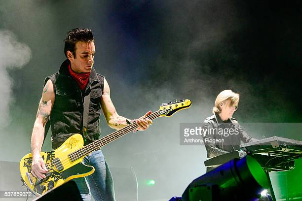 Simon Gallup of The Cure performs onstage at Sunlight Supply Amphitheater on May 28 2016 in Ridgefield Washington