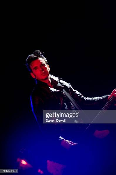 Simon Gallup of the The Cure performs on stage at Coachella Festival 2009 at Empire Polo Field on April 19 2009 in Indio California USA