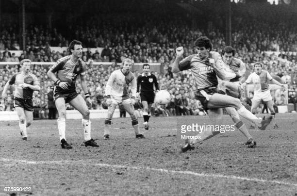 Simon Garner in action for Blackburn Rovers at Ewood Park February 1988 Blackburn Rovers 32 Aston Villa League Match Division Two