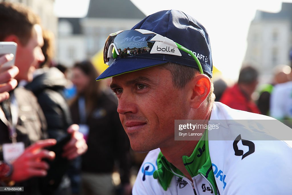 <a gi-track='captionPersonalityLinkClicked' href=/galleries/search?phrase=Simon+Gerrans&family=editorial&specificpeople=750380 ng-click='$event.stopPropagation()'>Simon Gerrans</a> of Australia and Orica GreenEDGE arrives at the start of the 50th Amstel Gold Race on April 19, 2015 in Maastricht, Netherlands.