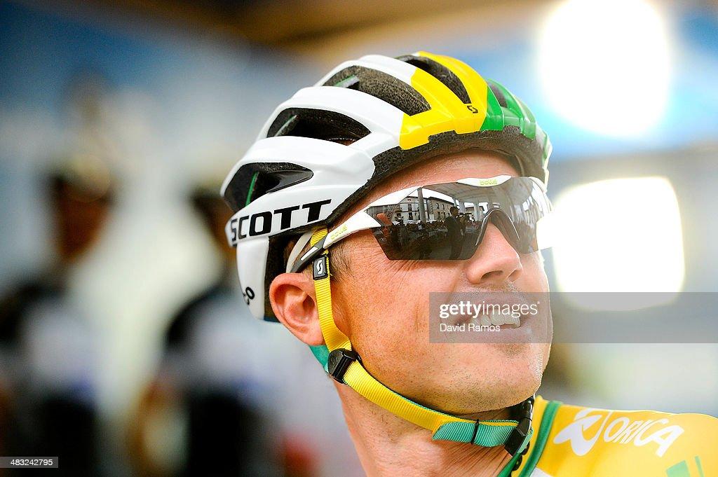 Simon Gerrans of Australia and Team Orica GreenEDGE looks on before the Stage One of Vuelta al pais Vasco 2014 on April 7 2014 in Beasain Spain