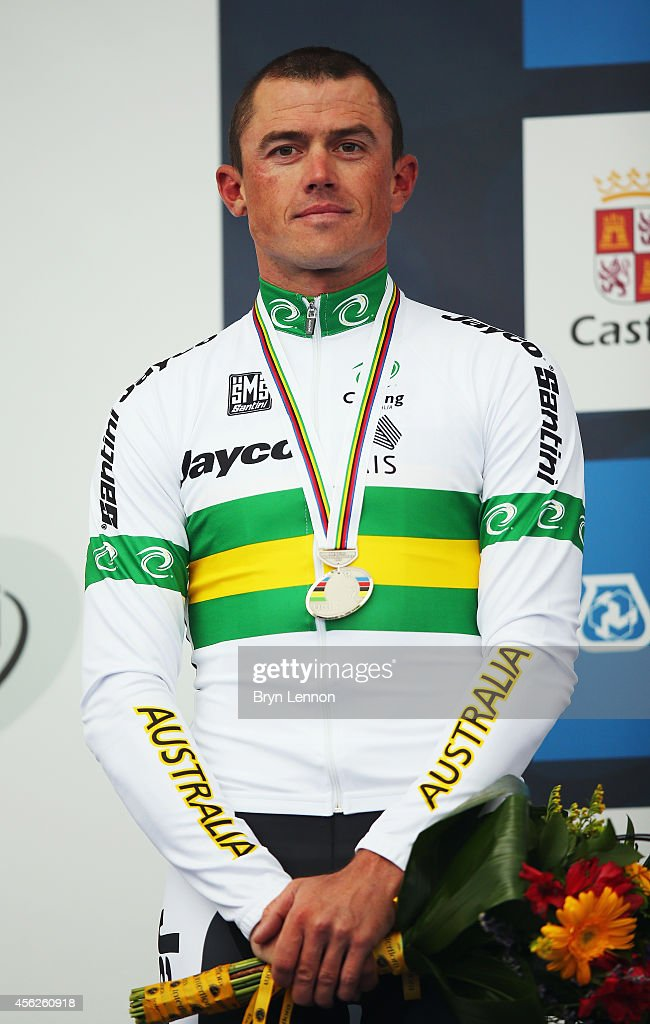 Simon Gerrans of Australia finished second in the Elite Men's Road Race on day seven of the UCI Road World Championships on September 28 2014 in...
