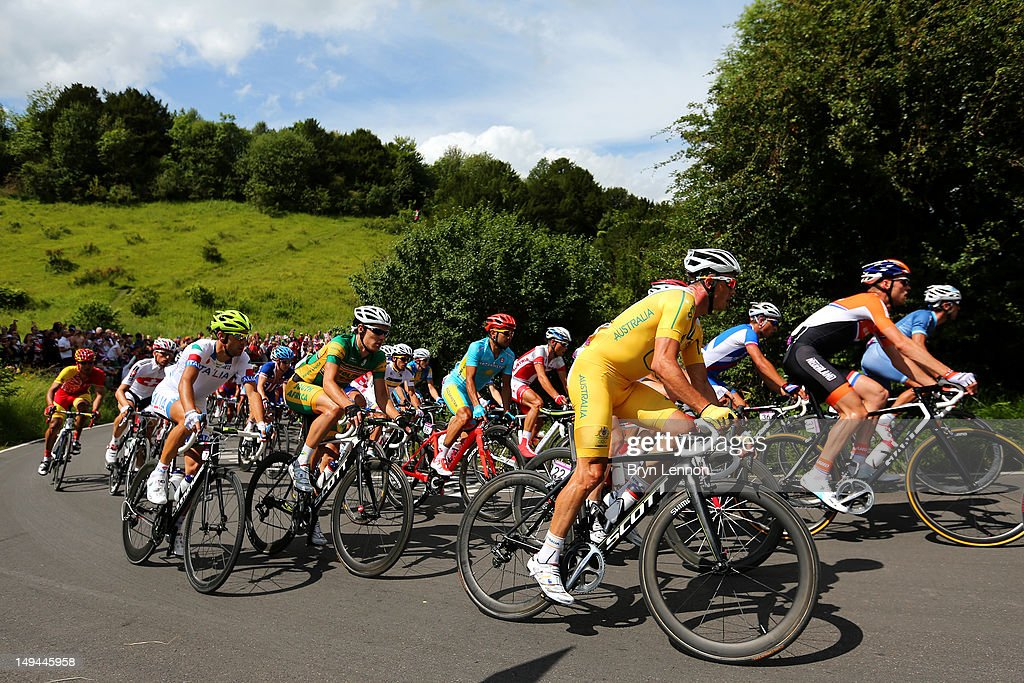 Simon Gerrans of Australia in action during the Men's Road Race Road Cycling on day 1 of the London 2012 Olympic Games on July 28 2012 in London...