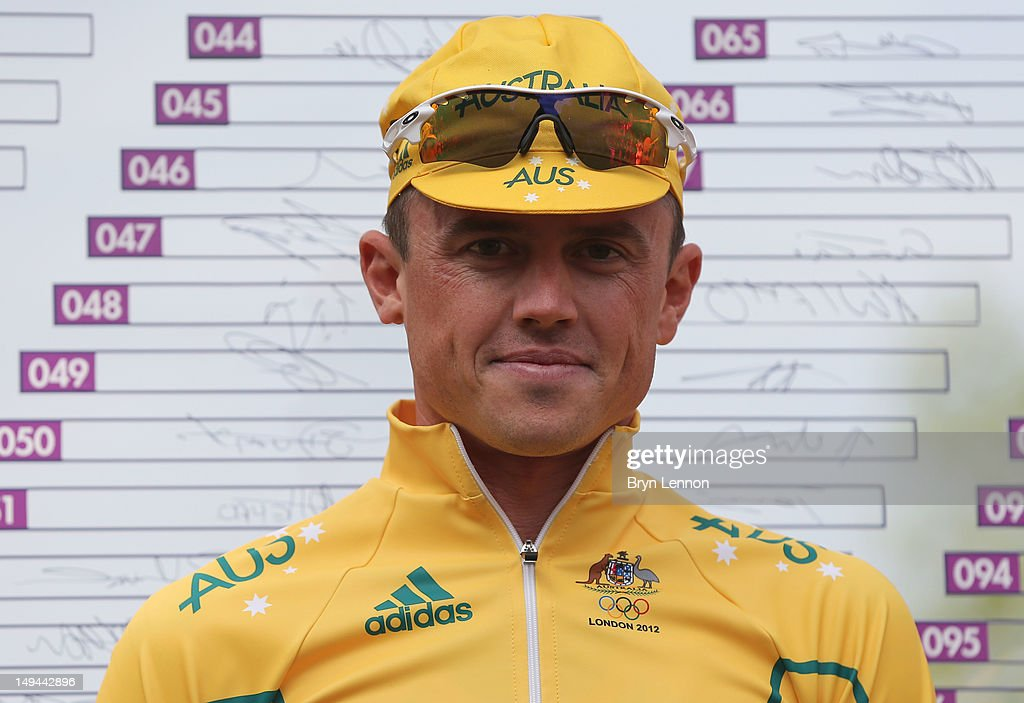 Simon Gerrans of Australia looks on ahead of the Men's Road Race Road Cycling on day 1 of the London 2012 Olympic Games on July 28 2012 in London...
