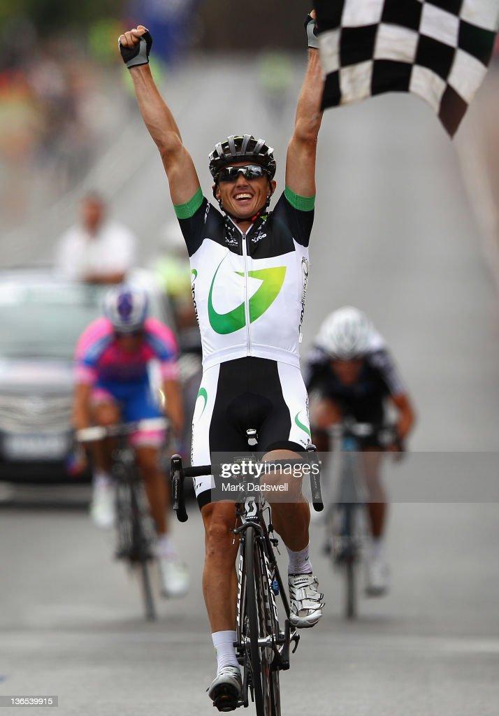 Simon Gerrans of Green Edge Cycling wins the 2012 Cycling Australia Road National Championships on January 8 2012 in Buninyong Australia