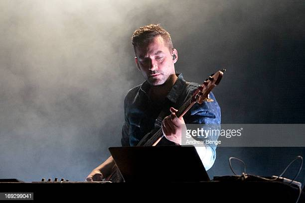 Simon Green of Bonobo performs on stage at Ritz Manchester on May 22 2013 in Manchester England