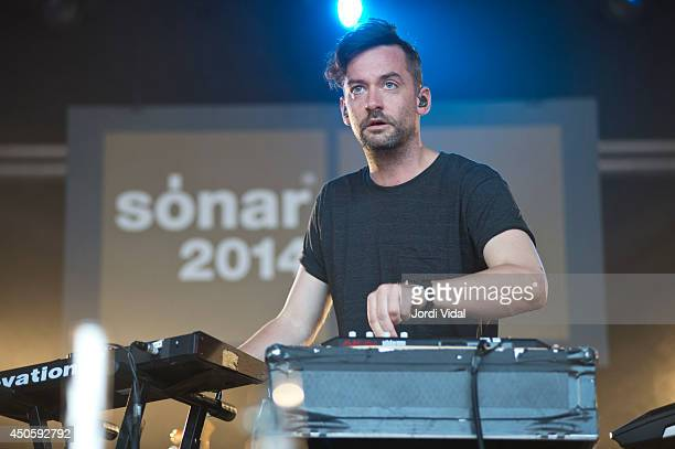 Simon Green of Bonobo performs on stage at Sonar 2014 at Sonar Village on June 13 2014 in Barcelona Spain