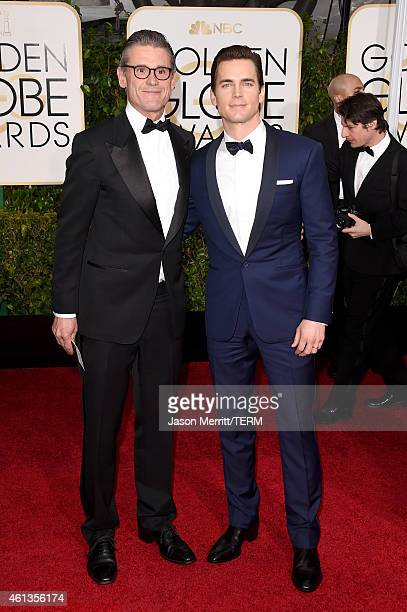 Simon Halls and actor Matt Bomer attend the 72nd Annual Golden Globe Awards at The Beverly Hilton Hotel on January 11 2015 in Beverly Hills California