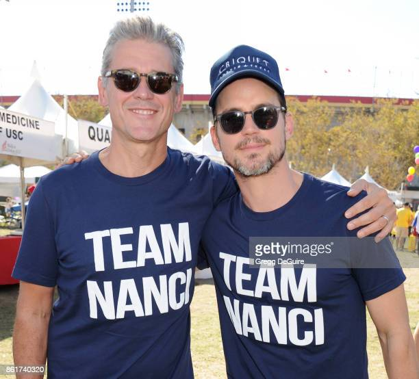 Simon Halls and Matt Bomer attend Nanci Ryder's 'Team Nanci' 15th Annual LA County Walk To Defeat ALS at Exposition Park on October 15 2017 in Los...