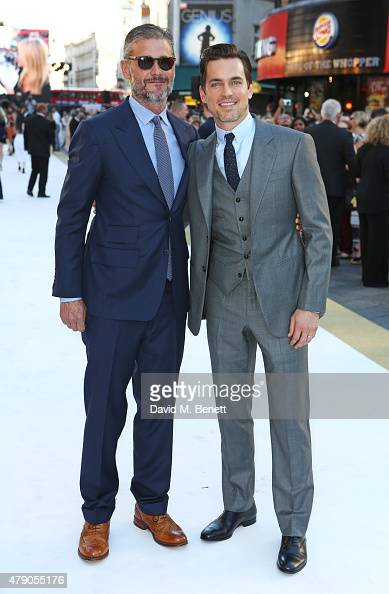 Simon Halls and Matt Bomer attend the UK Premiere of 'Magic Mike XXL' at the Vue West End on June 30 2015 in London England