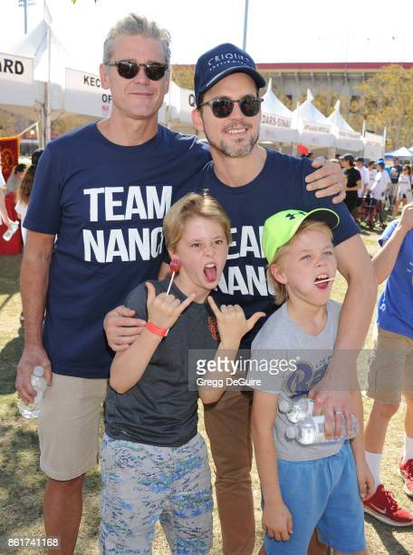 Simon Halls Matt Bomer Henry Halls and Walker Halls attend Nanci Ryder's 'Team Nanci' 15th Annual LA County Walk To Defeat ALS at Exposition Park on...