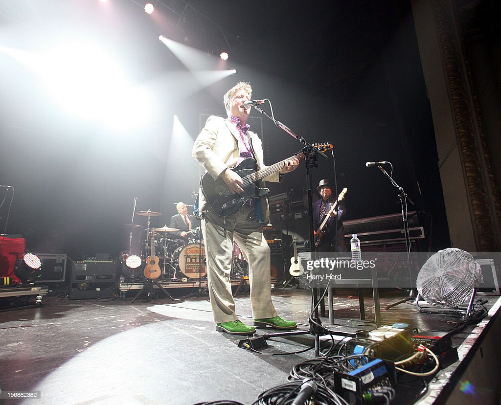 Simon Hanson, Glenn Tilbrook and John Bentley of Squeeze perform at 02 Academy on November 23, 2012 in Bournemouth, England.