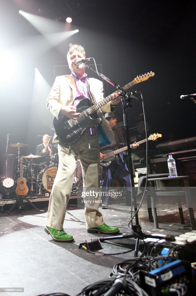 Simon Hanson, <a gi-track='captionPersonalityLinkClicked' href=/galleries/search?phrase=Glenn+Tilbrook&family=editorial&specificpeople=2011135 ng-click='$event.stopPropagation()'>Glenn Tilbrook</a> and John Bentley of Squeeze perform at 02 Academy on November 23, 2012 in Bournemouth, England.