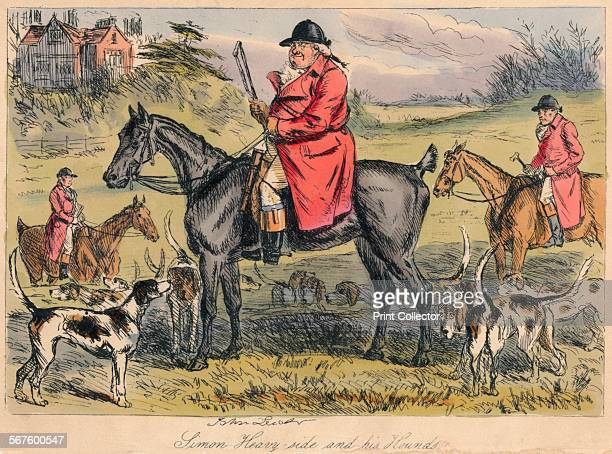'Simon Heavy side and his Hounds' 1865 From Mr Facey Romford's Hounds written by Robert Smith Surtees illustrated by John Leech and HK Phiz Browne...