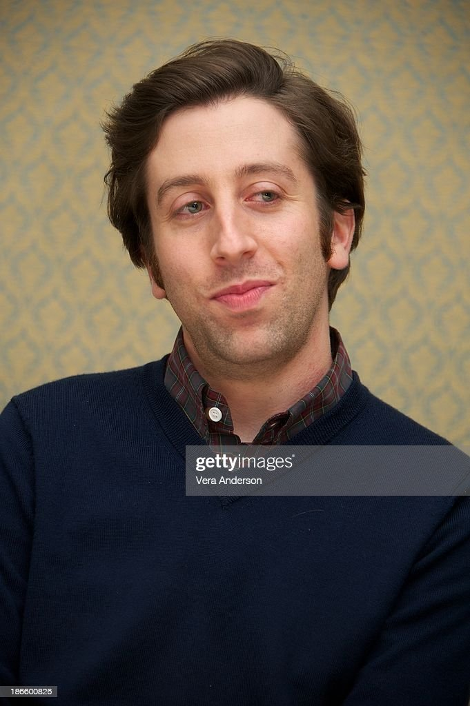 Simon Helberg at 'The Big Bang Theory' Press Conference at the Four Seasons Hotel on October 30, 2013 in Beverly Hills.