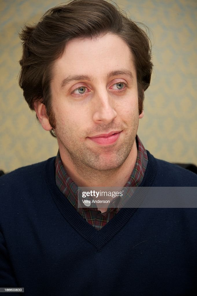 <a gi-track='captionPersonalityLinkClicked' href=/galleries/search?phrase=Simon+Helberg&family=editorial&specificpeople=3215017 ng-click='$event.stopPropagation()'>Simon Helberg</a> at 'The Big Bang Theory' Press Conference at the Four Seasons Hotel on October 30, 2013 in Beverly Hills.