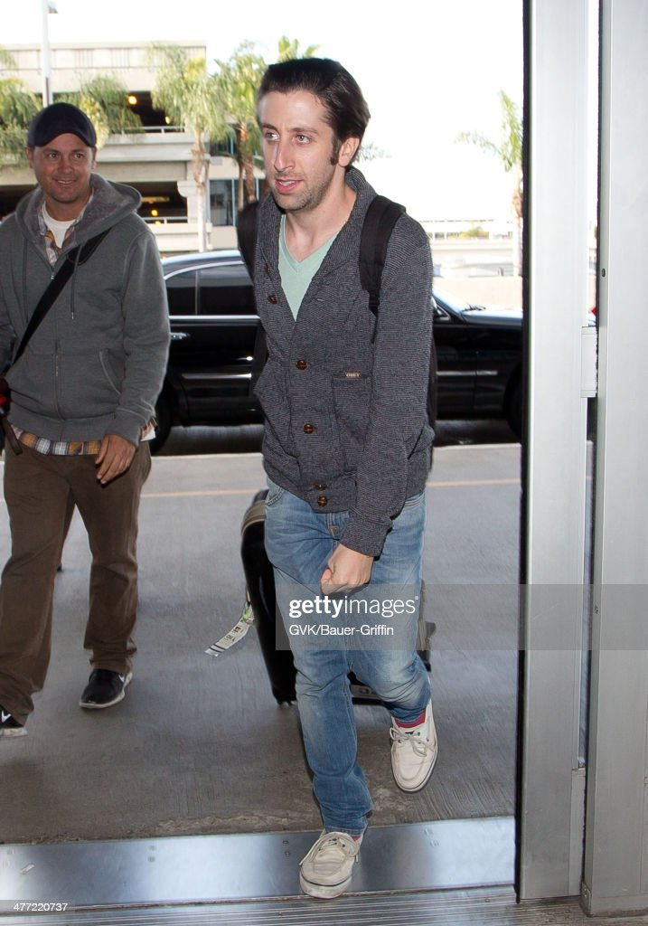 Simon Helberg is seen at LAX on March 07, 2014 in Los Angeles, California.