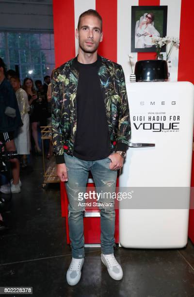 Simon Huck attends Gigi Hadid for Vogue Eyewear #ShowYourParty event at Industria Superstudio on June 27 2017 in New York City