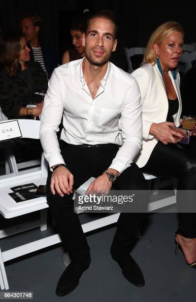 Simon Huck attends Jeffrey Fashion Cares 2017 at Intrepid SeaAirSpace Museum on April 3 2017 in New York City