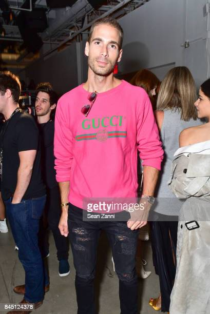 Simon Huck attends the Jonathan Simkhai fashion show during New York Fashion Week The Shows at Gallery 1 Skylight Clarkson Sq on September 9 2017 in...