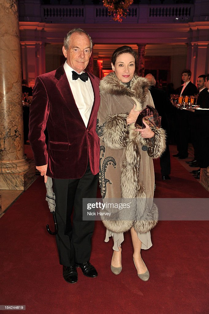 Simon Jenkins and Guest attend the Hollywood Costume gala dinner at the Victoria & Albert Museum on October 16, 2012 in London, England.