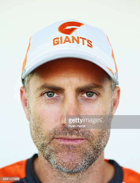 Simon Katich Giants Football Operations Manager poses after a Greater Western Sydney Giants AFL press conference at Sydney Olympic Park Sports Centre...