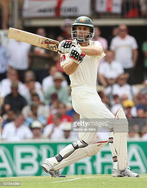 Simon Katich of Australia bats during day four of the Second Ashes Test match between Australia and England at Adelaide Oval on December 6 2010 in...