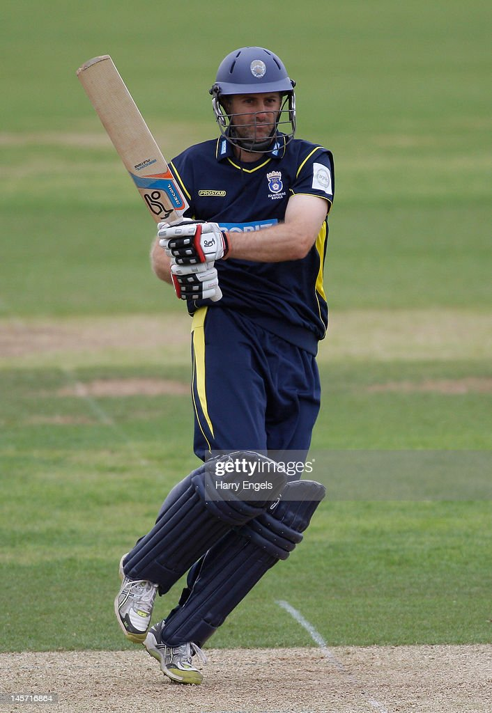 <a gi-track='captionPersonalityLinkClicked' href=/galleries/search?phrase=Simon+Katich&family=editorial&specificpeople=176577 ng-click='$event.stopPropagation()'>Simon Katich</a> of Hampshire picks up some runs during the Clydesdale Bank Pro40 match between the Hampshire Royals and the Scottish Saltires on June 4, 2012 in Southampton, England.