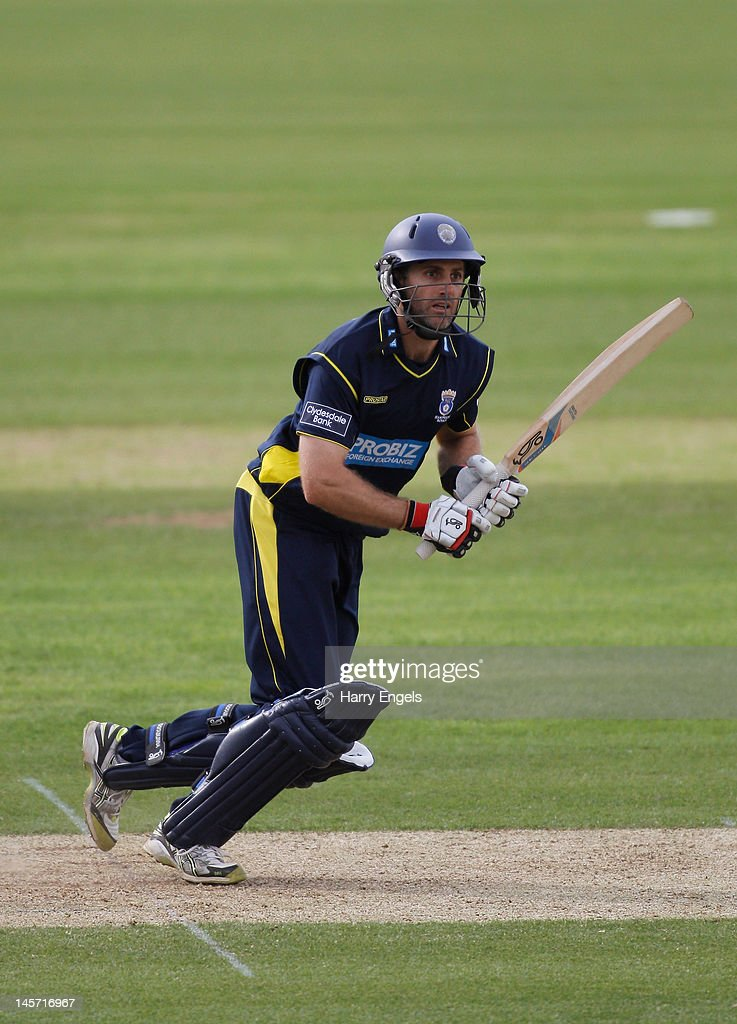 Simon Katich of Hampshire picks up some runs during the Clydesdale Bank Pro40 match between the Hampshire Royals and the Scottish Saltires on June 4, 2012 in Southampton, England.