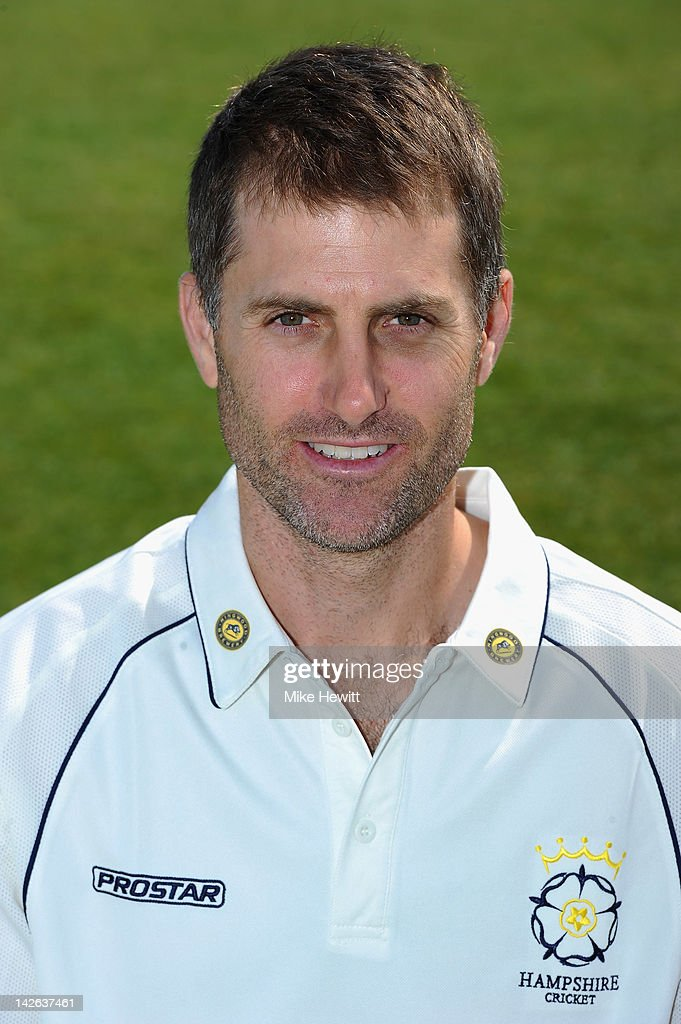 Simon Katich of Hampshire poses for a portrait during the Hampshire CCC Photocall at the Rosebowl on April 10, 2012 in Southampton, England.