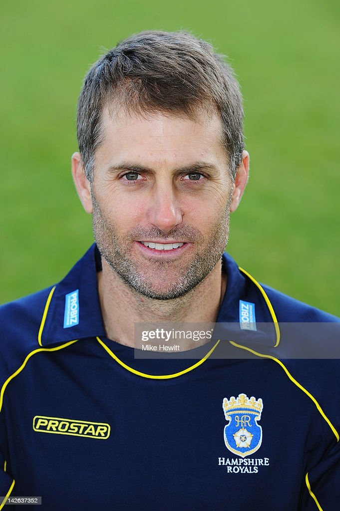 Simon Katich of Hampshire poses for a portrait in CB40 kit during the Hampshire CCC Photocall at the Rosebowl on April 10, 2012 in Southampton, England.