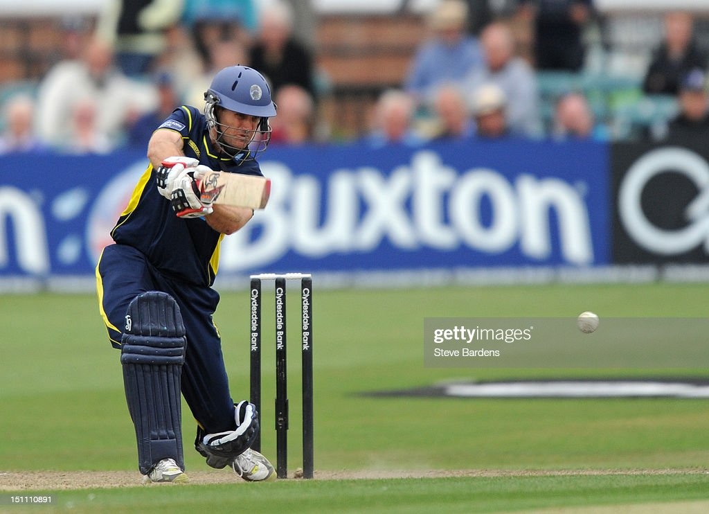 Simon Katich of Hampshire Royals plays a shot during the Clydesdale Bank Pro40 semi final match between Sussex and Hampshire at the Probiz County Ground on September 1, 2012 in Hove, England.