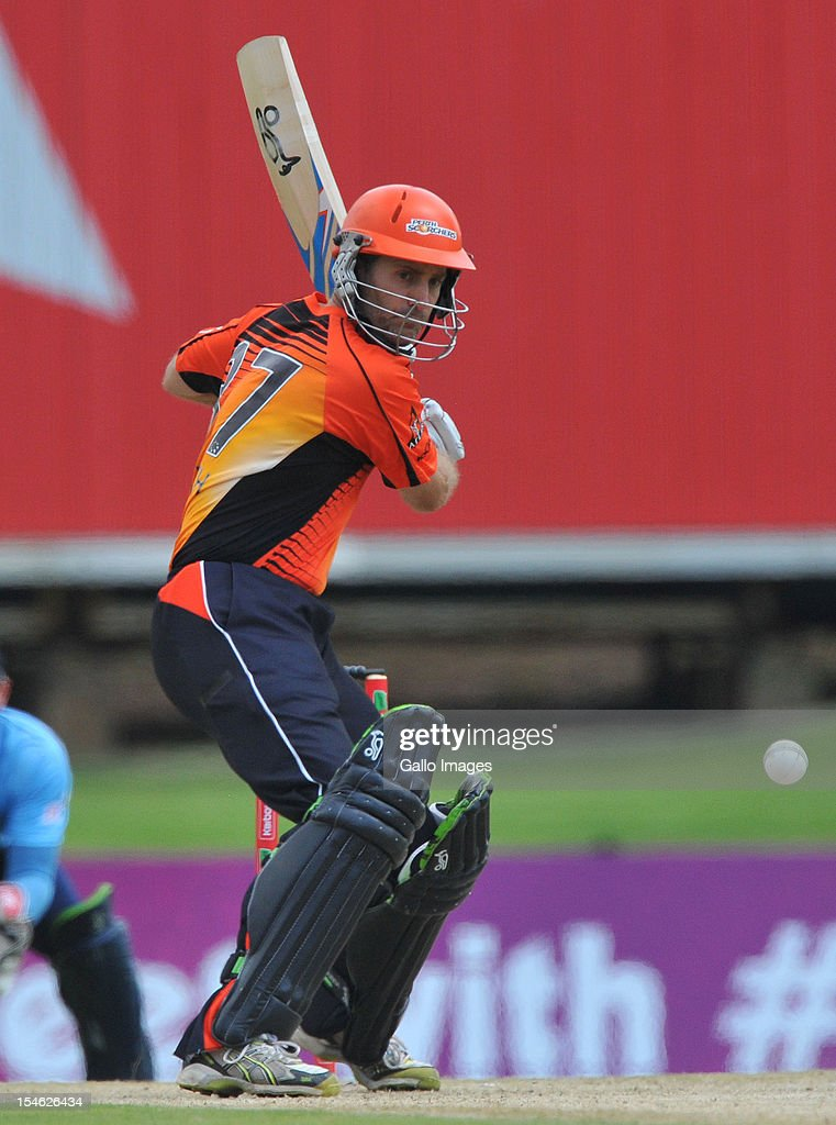 Simon Katich of Perth bats during the Karbonn Smart CLT20 match between Auckland Aces and Perth Scorchers at SuperSport Park on October 23, 2012 in Pretoria, South Africa.