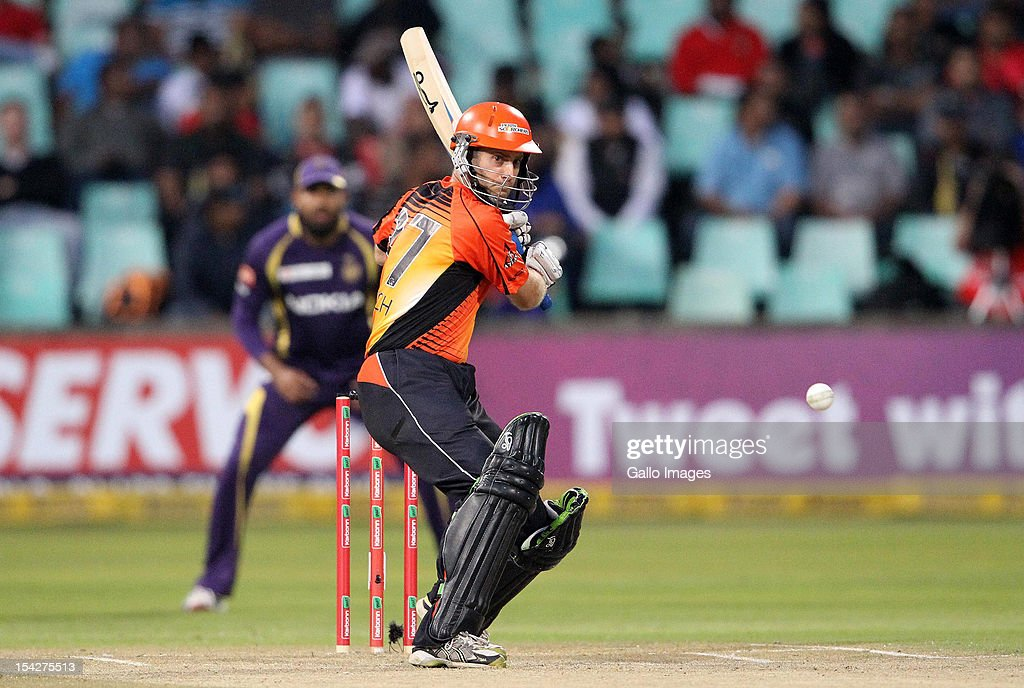 <a gi-track='captionPersonalityLinkClicked' href=/galleries/search?phrase=Simon+Katich&family=editorial&specificpeople=176577 ng-click='$event.stopPropagation()'>Simon Katich</a> of Perth Scorchers in action during the Champions League Twenty20 match between Kolkata Knight Riders and Perth Scorchers at Sahara Stadium Kingsmead on October 17, 2012 in Durban, South Africa.