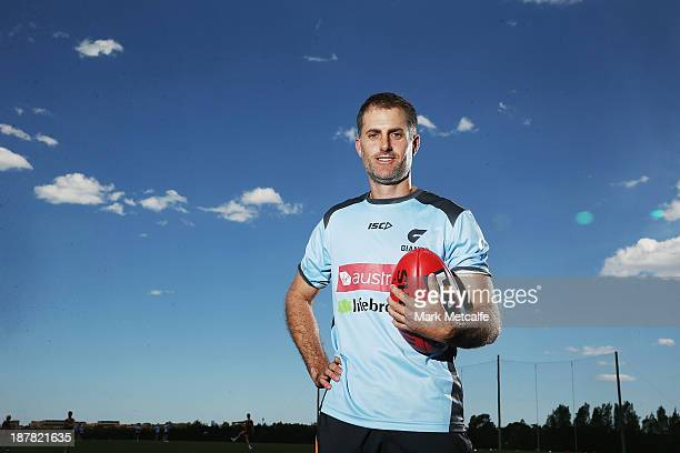 Simon Katich poses during a Greater Western Sydney Giants AFL media opportunity at Sydney Olympic Park on November 13 2013 in Sydney Australia