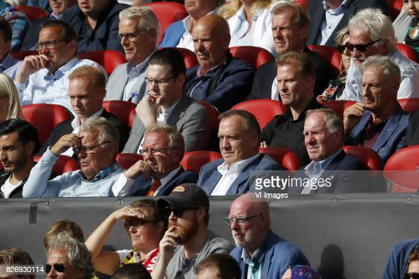 Simon Kelder coach Dick Advocaat of Holland Bert van Lingen during the Johan Cruijff Shield match between between Feyenoord Rotterdam and Vitesse...