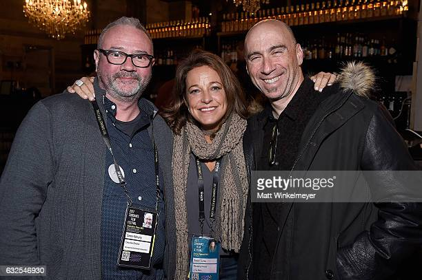 Simon Kilmurry Susan Turley and composer and founder of Oovra Music Joel Goodman attend the Film Independent International Documentary Association...