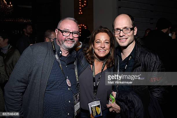 Simon Kilmurry Susan Turley and Jason SpingarnKoff attend the Film Independent International Documentary Association Oovra Music And RO*CO FILMS...