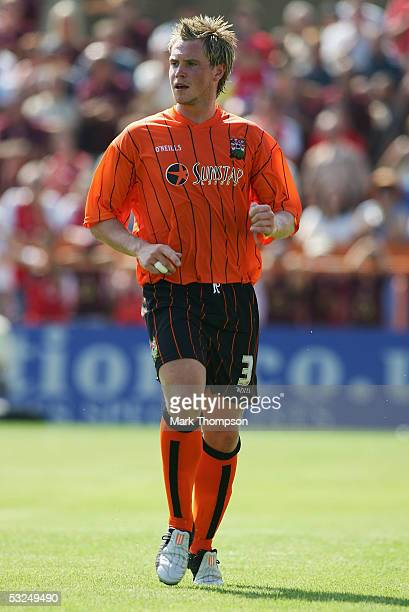 Simon King of Barnet during the preseason friendly match between Barnet FC and Arsenal at Underhill Stadium on July 16 2005 in Barnet London