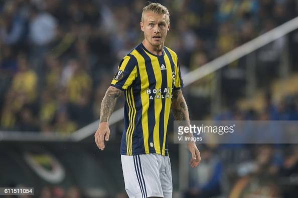 Simon Kjaer of Fenerbahce during the UEFA Europa Leaguegroup A match between Fenerbahce and Feyenoord Rotterdam on September 29 2016 at the Sukru...