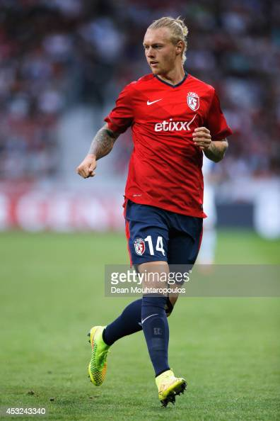 Simon Kjaer of Lille in action during the UEFA Champions League third qualifying round 2nd leg match between LOSC Lille and Grasshopper Club Zurich...