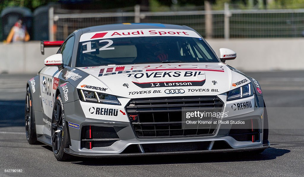 Simon Larsson (SWE) of Team quattro GmbH during a free practice session in preparation for the upcoming 2016 Audi Sport TT Cup at the Norisring during Day 1 of the German Touring Car Championship 2016 - Session 4 on June 24, 2016 in Nuremberg, Germany.