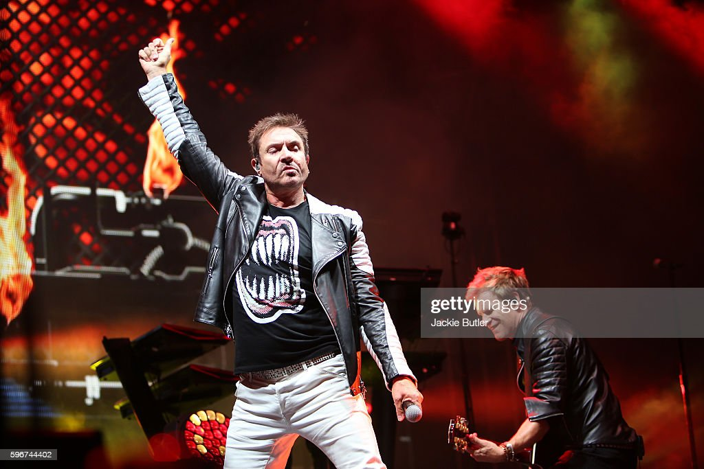 Simon Le Bon and John Taylor of Duran Duran perform during MusicFest NW presents Project Pabst at Tom McCall Waterfront Park on August 27 2016 in...